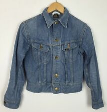 VINTAGE 90'S LEE DENIM JACKET STONEWASH COAT FESTIVAL RETRO GRUNGE URBAN UK XS