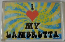 Novelty Fridge Magnet Gift For a Lambretta Lover, I Love My Lambretta,Retro Gift