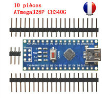 10 x Nano V3.0 Mini USB ATmega328 5V 16MHz Micro-contrôleur CH340G pour Arduino