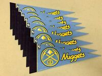 "(6) Denver Nuggets NBA Basketball 4""x9"" Vibrant Mini Team Logo Pennant Decor NEW"