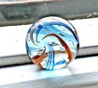 Beautiful Antique German 21/32 White Latticino Core Marble  #160