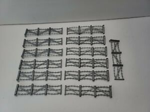 Marx Barbed Wire Fence WWII D-Day Farm Toy Soldiers Diorama