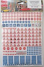 Busch 6028 H0, Verkehrszeichen, Verkehrsschilder und Straßennamen, 256 selbstkle