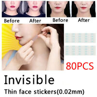 80/160pc Face Lift V Shape Face Label Lift Up Maker Chin Adhesive Tape Tool Gift