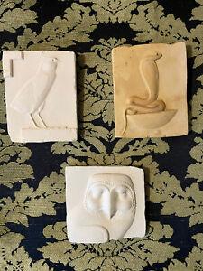 Vintage Metropolitan Museum of Art Reproduction Relief Plaque Set Of Three