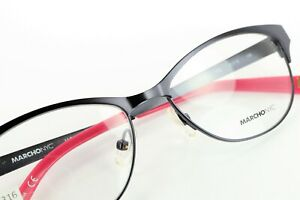 MARCHON NYC ROW 412 Satin Midnight Blue / Pink 51-15-135 Eyeglass Frames L316