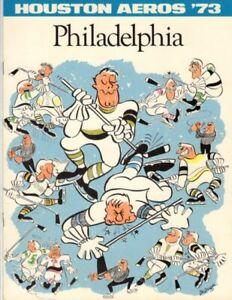 3/19/73 WHA Philadelphia at Houston Game Program; Mint!
