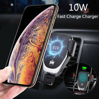 Automatic Clamping Wireless Car Charger Fast Charging Mount For Samsung S10 Plus