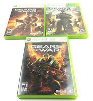 Gears Of War I II III  Game Lot (Microsoft Xbox 360) CIB