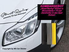 Street Racing by Opel Motorsport Sport Mind Aufkleber Sticker+15x Opel Streifen