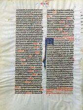 Biblia escritura a mano biblia latina pergamino francia fleuronné grusch para 1250