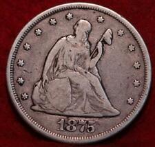 1875-CC Carson City Mint Silver Twenty Cents