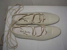 RENÉ DERHY Ballerines / Chaussures P.38 cuir écru / blanc cassé
