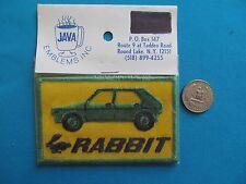 1 VINTAGE 70S VOLKSWAGEN RABBIT VW CAR AUTOMOBILE PATCH CREST EMBLEM MIP