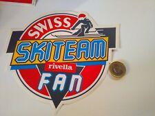 GRANDE ADESIVO VINTAGE STICKER KLEBER SWISS SKITEAM RIVELLA FAN