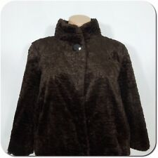 ANN TAYLOR Women's Brown Faux Fur Short Jacket, 3/4 Wide Sleeves, size XS