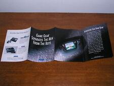 NOS - 1991 Game Gear brochure - also Sega Master System II, Genesis