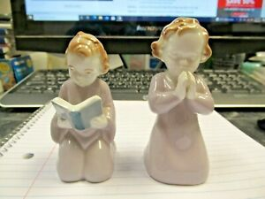 Vintage Erphila Germany Praying Girl Boy Reading Figurines Nice Buy it Now Price