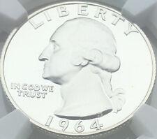1964 WASHINGTON QUARTERSILVER PF68 ULTRA CAMEO ⭐️⭐️HARD TO FIND GEM💎💎 ICY