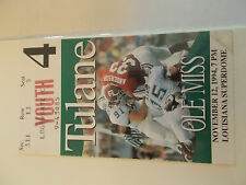 1994 Tulane Green Wave Ole Miss Rebels Football Ticket Stub SK3
