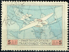 Greece Aviation Aircraft over Map stamp 1968