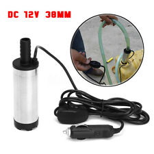 12V 38mm Electric Submersible Water Pump Oil Fuel Refueling Cigarette Lighter