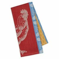 Design Imports ROOSTER Jacquard Weave  Cotton Kitchen Tea Towel