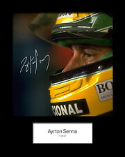 ARYTON SENNA #3 Signed Photo Print 10x8 Mounted Photo Print - FREE DELIVERY