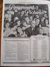 1920 Mulitple Paramount Pictures Movies Releasing 33 Listings Advertisement