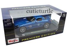 Maisto Mercedes Benz SLS AMG Gullwing 1:18 Diecast Blue 36196