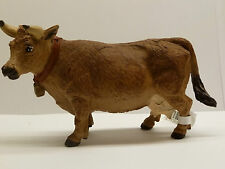 X12) SAFARI jersiaise VACHE figure figurine animalière FIGURINE FERME