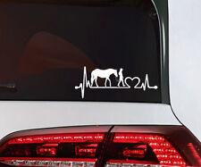 CHEVAUX autocollant cœur coup cheval avec Mme Voiture Sticker Heart Beat animaux Horse
