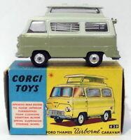Corgi Toys 420 - Ford Thames Airborne Caravan Repaint & Repro Box - Olive