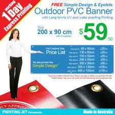 Custom Banner 2m x 0.9m Outdoor UV & Waterproofing PVC Vinyl Sign