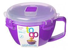 Sistema violet klip it micro-ondes nouille pasta soup bowl 940ml déjeuner bpa free