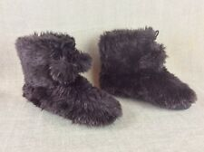 Women's Boots Black Faux Fluffy Slip On Ankle Boots Mudd  Size 8