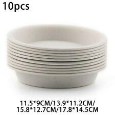 10pcs Set Flower Pot Trays Succulent Plants Water Drips Plate Gardening Supplies