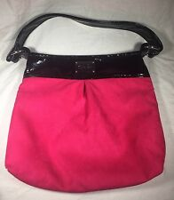 Madison Handbag Trish Rost Collection Purse Handbag Hot Pink Black Patent