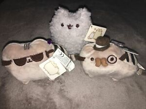 Gotta Getta Gund Pusheen Cat Bundle Of 3 Plush Soft Toys Gentlemen Stormy Cool