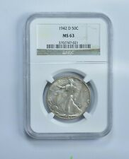 MS63 1942-D Walking Liberty Half Dollar - Graded NGC *306