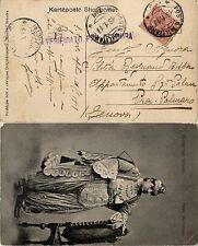 POSTA MILITARE 116 - 15.1.1919 - Cartolina Yugoslava con 10c(82) per PRA