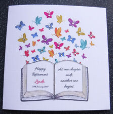 HANDMADE PERSONALISED RETIREMENT CARD,RETIREMENT BOOK
