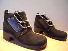 Nos Vintage 1950s 60s Hush Puppies Black Suede Leather Winter Boots Mod Snow 5.5