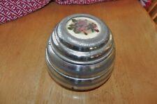 "Vintage Antique Pewter Decorative Music & Trinket Box 3"". Plays Waltz"