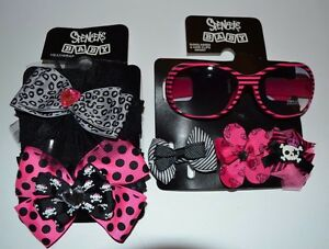 Spencer's Baby Sunglasses 100% UV Protection, 3 barrets Hair clips & 2 Headwraps