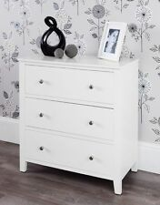 Brooklyn White 3 Drawer Chest, Assembled, metal runners, dovetail joints,QUALITY