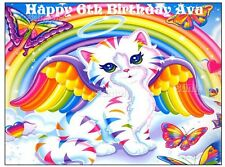 RAINBOW KITTEN Edible cake decoration topper sugar sheet image party birthday