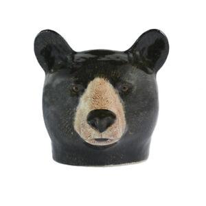 Quail Ceramics   Face Egg Cup  Brown  Bear.
