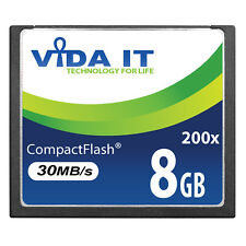 VIDA 8GB Compact Flash CF Memory Card High Speed 30MB/s For SLR Digital Camera