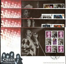 GB 2020 Royal Mail Queen  PSB X4 Different P/M FDC Unaddressed + Empty Book
